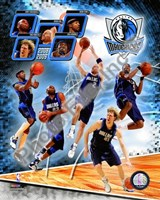 2008-09 Dallas Mavericks Team Composite Fine Art Print