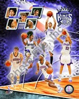 2008-09 Sacramento Kings Team Composite Framed Print