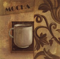 Deco Coffee II Mocha Fine Art Print