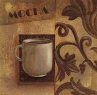 Deco Coffee II Mocha Framed Print