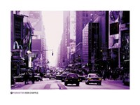 Manhattan - purple street view Fine Art Print
