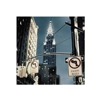 Manhattan - no turn signs Fine Art Print