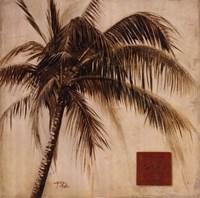 Sepia Palm I Fine Art Print