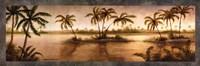 Golden Tropics II Framed Print