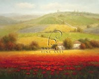 Fields of Red and Gold II Fine Art Print