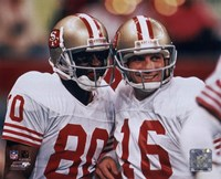 Jerry Rice / Joe Montana - Group Shot  (#1) Framed Print
