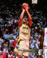 Tim Duncan Wake Forest Demon Deacons 1997 Action Fine Art Print