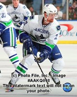 Daniel Sedin 2008-09 Away Action Fine Art Print