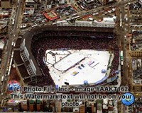 Wrigley Field bird eye 2008-09 NHL Winter Classic Fine Art Print