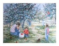 Picking Apples Fine Art Print