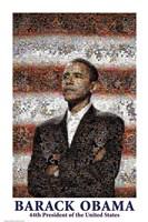 Obama Mosaic Fine Art Print