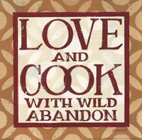 Love and Cook Framed Print