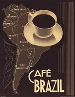 Cafe Brazil II Framed Print