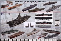 Aircraft Carrier Evolution Fine Art Print