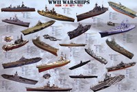 World War II War Ships Wall Poster