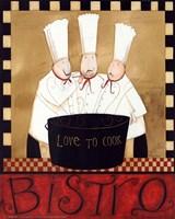 3 Chefs Soup Bistro 1 Fine Art Print