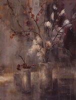 Silver Floral Fine Art Print