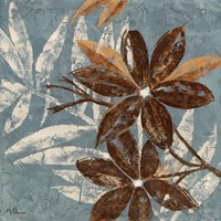 Flowers on Denim IV Fine Art Print