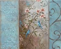 Elegance en Soie Bleue I Fine Art Print