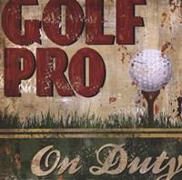 Golf Pro Fine Art Print