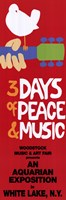 Woodstock - 3 days Wall Poster
