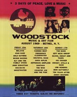 Woodstock Line-Up Wall Poster
