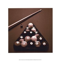 Pool Table I - Sepia Framed Print