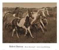 Horses Running II Framed Print