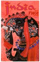 India - Fly TWA Framed Print