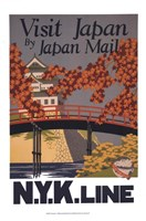 Visit Japan Framed Print