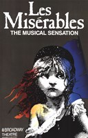 Les Miserables (Broadway) - style A Framed Print
