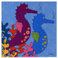 Sally Seahorse Fine Art Print