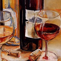Red Wine for Two Fine Art Print