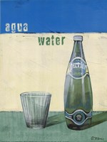 Aqua Minerale Fine Art Print