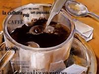 Un Piccolo Caffe Fine Art Print