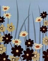 Blue Daisy Meadow Framed Print