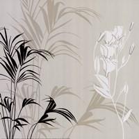 White Flower Fern Framed Print