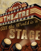 Life's Theatre Framed Print