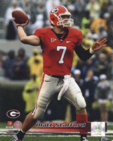 Matt Stafford Georgia Bulldogs 2008 Action Fine Art Print