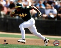 Rickey Henderson 1998 Action Fine Art Print
