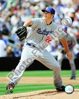 Clayton Kershaw 2009 Pitching Action Fine Art Print