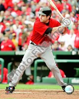 Lance Berkman - 2009 Batting Action Fine Art Print