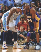 Carmelo Anthony & Kobe Bryant 2008-09 Playoff Action Fine Art Print