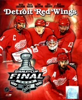 "'09 St. Cup - Red Wings ""Big 5"" Fine Art Print"