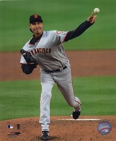 Randy Johnson - 2009 Pitching Action Fine Art Print