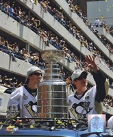 Marc-Andre Fleury & Sidney Crosby 2009 Stanley Cup Champions Victory Parade (#60) Fine Art Print