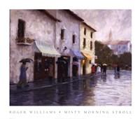 Misty Morning Stroll Fine Art Print