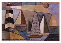 Bay Regatta Framed Print
