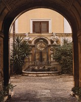 Courtyard Clock Fine Art Print