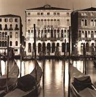 Il Gran Canale di Notte Framed Print